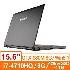 技嘉GIGABYTE P35XV3-BSMF3A30(黑) 筆記型電腦 Core i7-4710HQ/ FHD 廣視角防反光 /GTX 980M D5 8G/背光鍵盤 /DDR3L 8GB/128G m-SSD +1TB 7200rpm/DVD/ WIN 8.1 **雙碟**