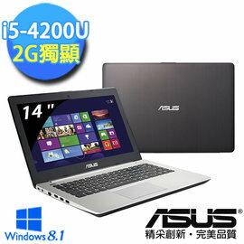 華碩 ASUS K451LN-0032A4200U i5-4200U/4GB/750G/NV840 2G/SM/Win8.1
