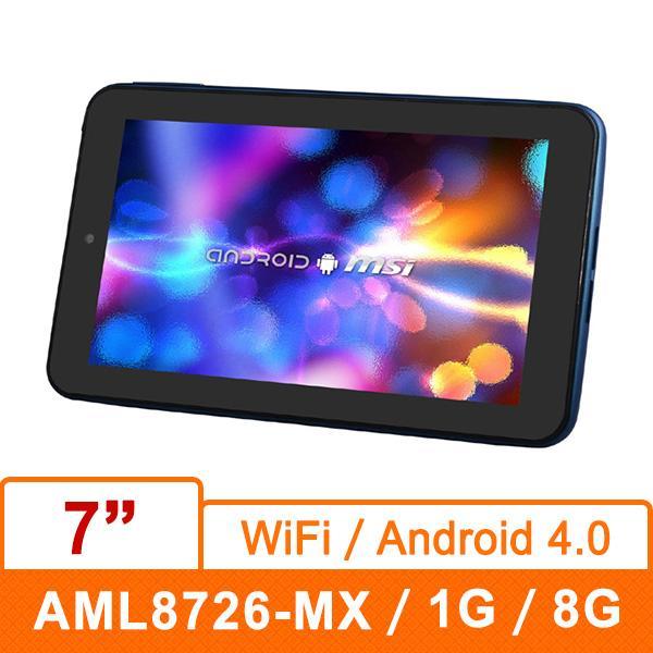 MSI微星 Enjoy 71- LLAL871G8DA 7吋平板電腦 (7吋IPS 1024*600/1.5GHz/1G D3/8G SSD/Android 4.0/3200mAh)