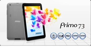"MSI Primo 73-007TW-BGAW201GXA 7吋 平板電腦 (7""(1024 x600)/Allwinner A20雙核心處理器/DDR3 1GB/16GB)"