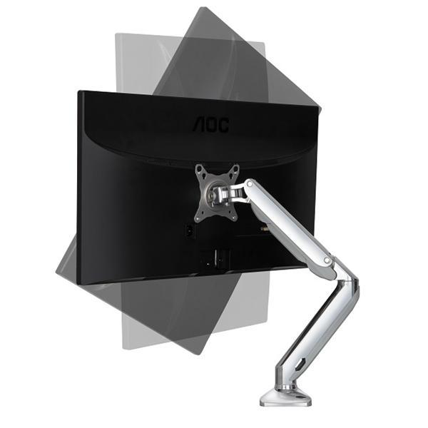 ~NB~F100 17^~27吋液晶螢幕 氣壓型萬向液晶螢幕架~單臂雙節 高強度航空鋁材