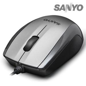 三洋SANYO環保USB光學滑鼠 SYMS-M8(鐵灰/黑/白 三色)