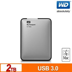 WD My Passport for Mac 2TB 2.5吋USB3.0行動硬碟