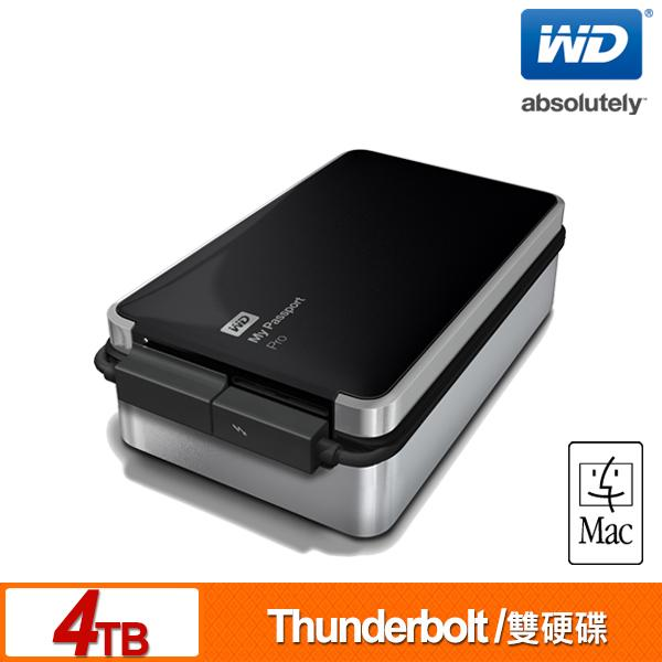 WD My Passport Pro(Mac) 4TB(2TBx2) 2.5吋雙硬碟儲存