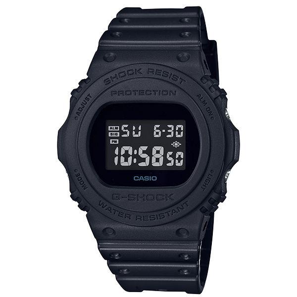 大高雄鐘錶城:CASIO卡西歐G-SHOCKDW-5750E-1B復刻懷舊圓形數位流行腕錶