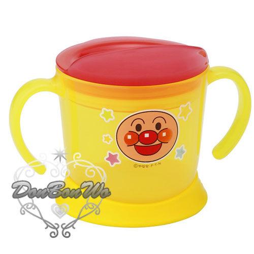 麵包超人杯子漱口杯學習杯學習水壺雙耳黃星星170803海渡