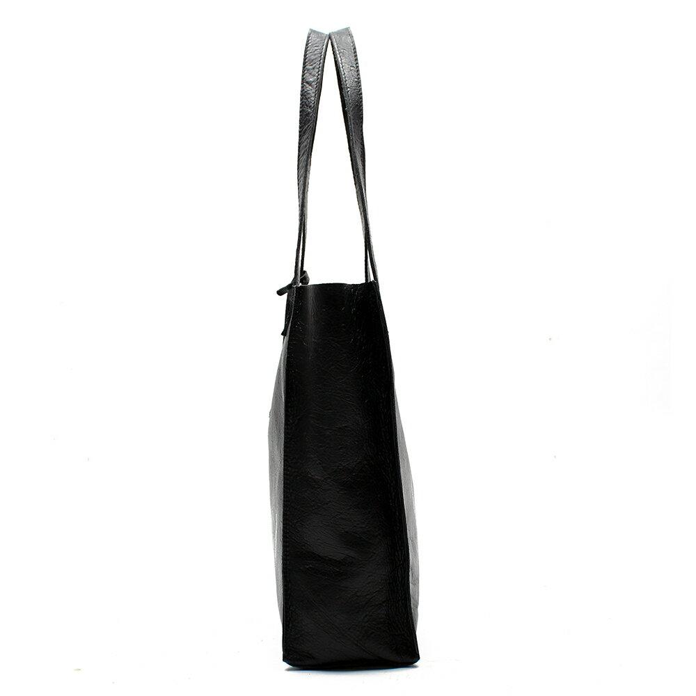 【BEIBAOBAO】氣質名媛牛皮壓紋肩背包(共兩色:  氣質黑) 3