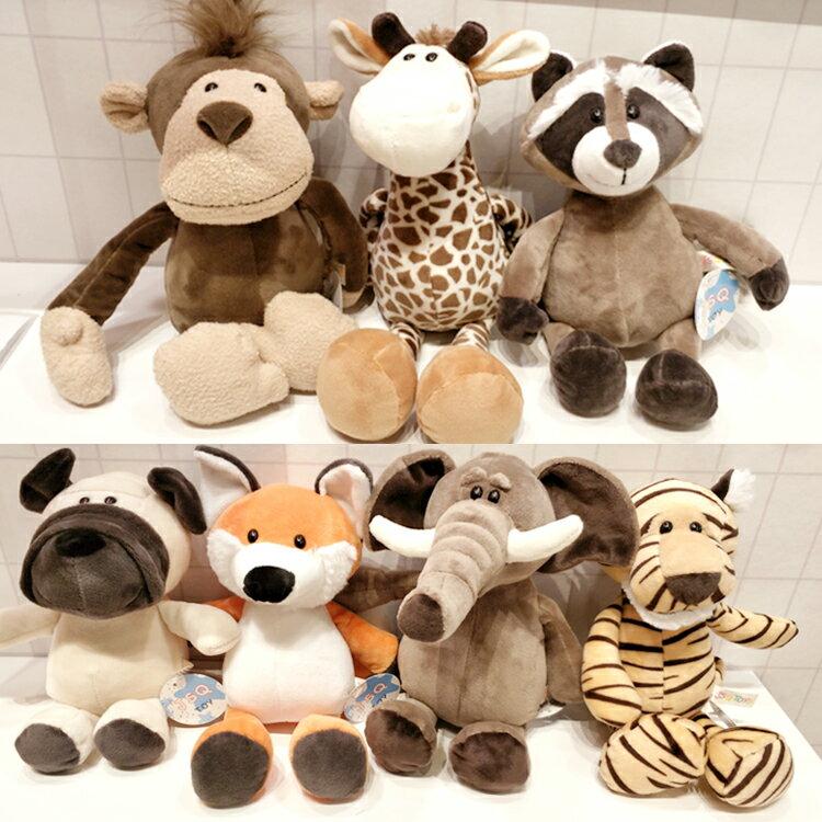 PGS7 人氣推薦商品 - 動物 森林 派對 絨毛 玩偶 單隻 娃娃 大象 獅子 斑馬【SJZ80130】