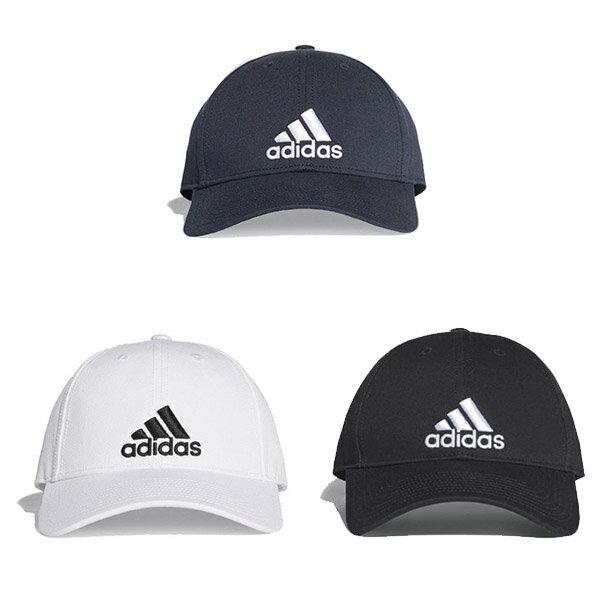 【ADIDAS】愛迪達 6P CAP COTTON 休閒 帽子 老帽 黑 白 藍 -S98151 / S98150 / DT8563