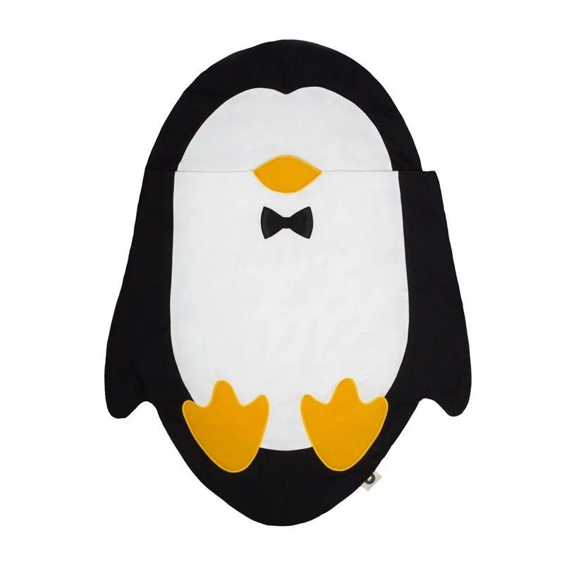 BabyBites 西班牙鯊魚咬一口純棉嬰幼兒多功能睡袋(輕量版)企鵝造型睡袋★衛立兒生活館★