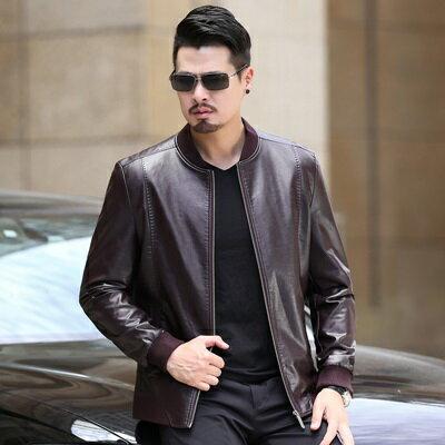 皮衣夾克外套-冬季立領純色短款男夾克4色73pn11【獨家進口】【米蘭精品】 1