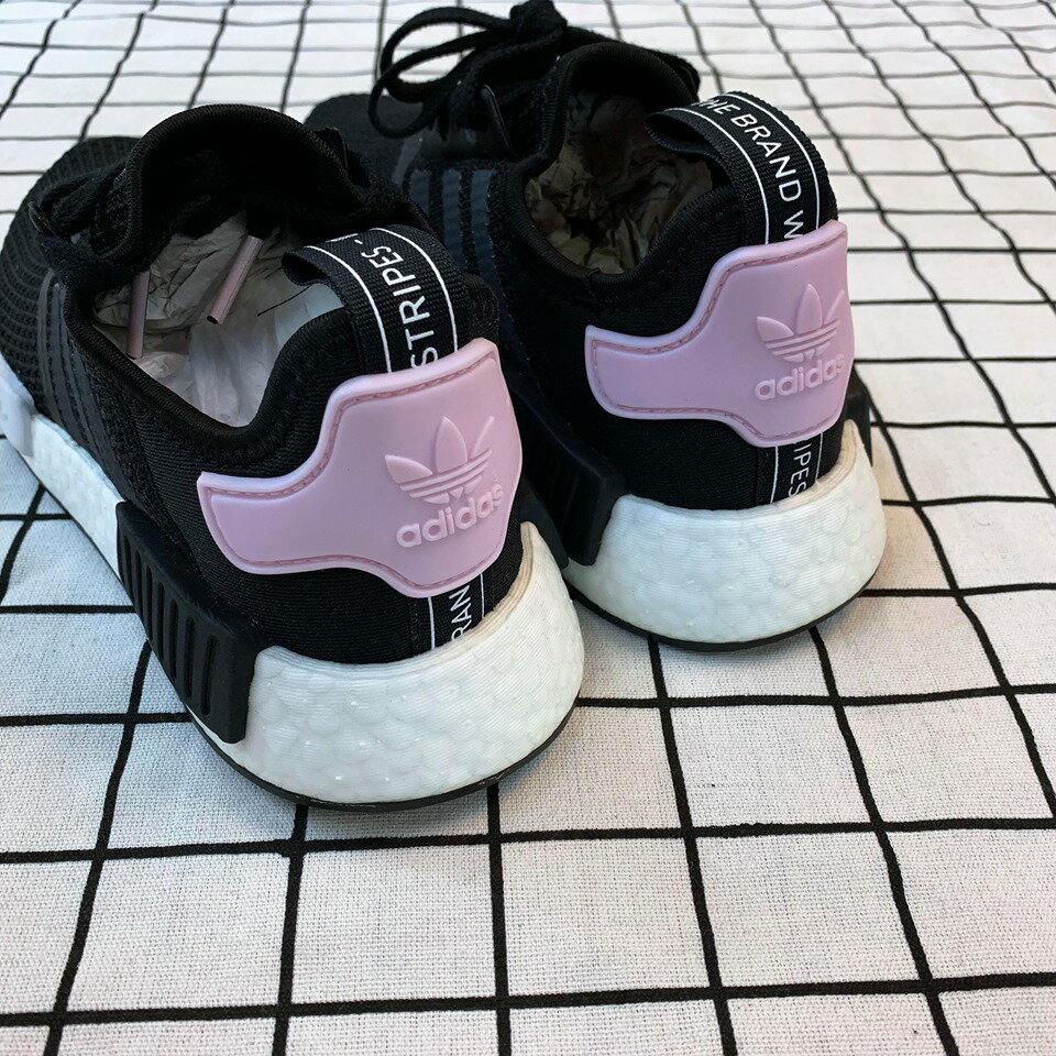 免運🚗-DTK-實體店面🎖現貨 Adidas Original NMD_r1 黑白粉尾 黑粉配色B37649 4