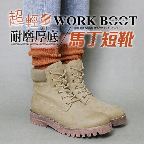 BONJOUR☆超輕量!耐磨厚底馬丁短靴Work Boots【ZB0367】6色 0
