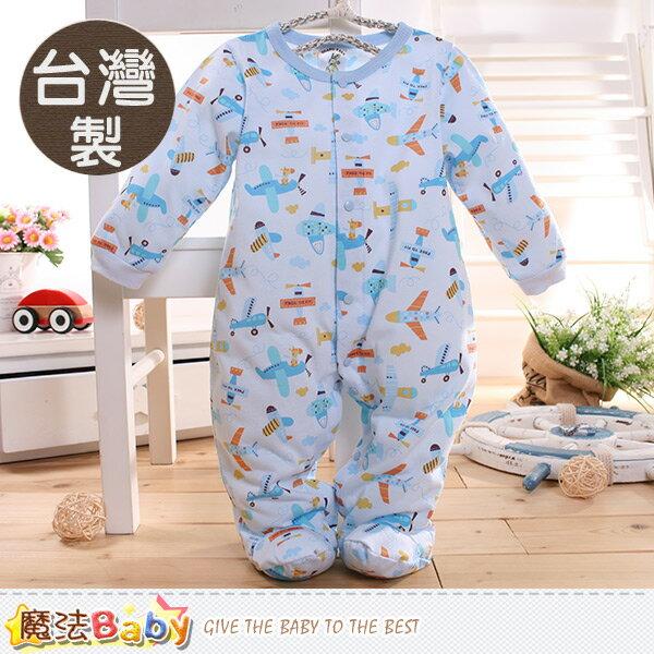 包屁衣 台灣製寶寶長袖包腳連身衣 魔法Baby~k60358