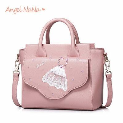 手提包-JustStar高質感蕾絲洋裝裙甜美斜背包蝙蝠包AngelNaNa【BA0298】