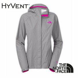 The North Face 女 HyVent™ 2.5L 防水外套 中灰/亮桃粉 CGL8