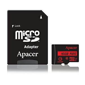 Apacer宇瞻 microSDHC UHS-I U1-16GB(讀85MB/s)含轉卡★★★ 全新原廠公司貨終身保固★★★含稅附發票
