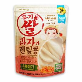 【淘氣寶寶】韓國艾唯倪IVENET大米餅(扁豆)30g