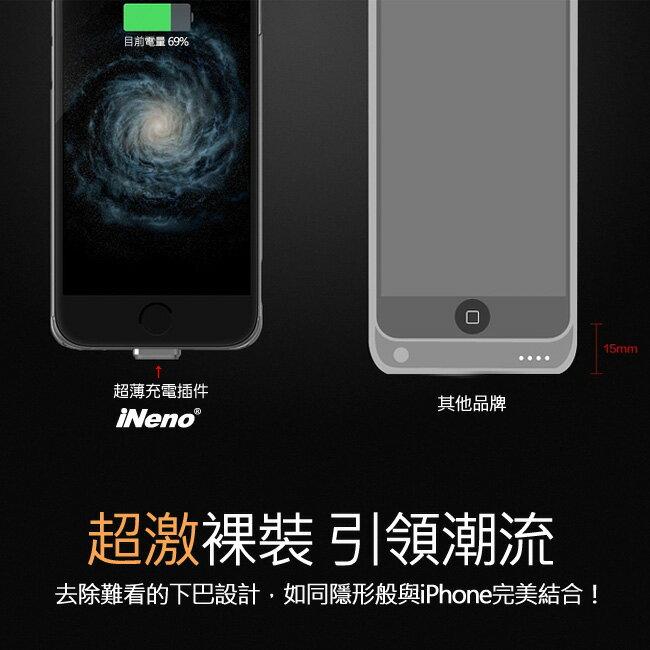 iNeno - iPhone6 Plus 專用超薄背蓋式隱形電源