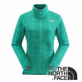 The North Face 女 刷毛保暖外套 海島綠印花 CUG8