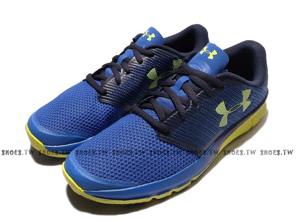 《下殺6折》Shoestw【1288071-907】UNDERARMOURCHARGEDRECKLESSUA慢跑鞋藍黃男生
