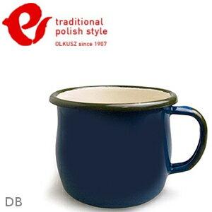 Emalia Olkusz 波蘭百年琺瑯杯/牛奶杯/琺瑯馬克杯250ml TPS 深藍 DB