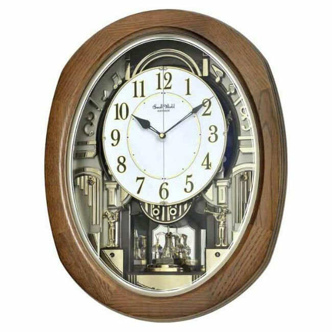 大高雄鐘錶城 RHYTHM 麗聲鐘 (4MH414)  古典造型時尚掛鐘/ 53.8cm 白