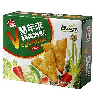 喜年來蔬菜餅乾(50g/盒)*1盒、5盒、6盒賣場【合迷雅好物商城】