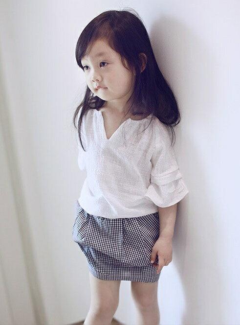 <br/><br/>  『DoudouMiki』童裝。格子花苞短裙 (CSD0003)<br/><br/>