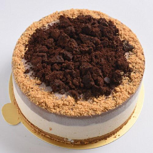 低醣巧克力花生雙色生乳酪蛋糕