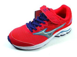 [陽光樂活] MIZUNO 美津濃 親子人氣鞋款 WAVE RIDER 20 Jr.V (童) 黏扣帶運動鞋 - K1GC173104 桃紅