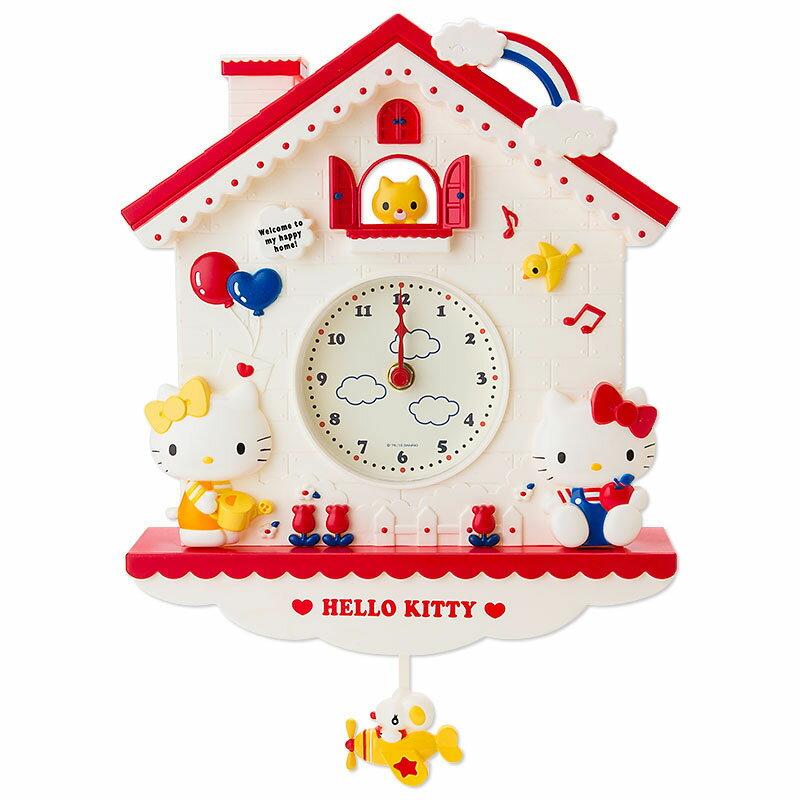 【真愛日本】15102800030 紅屋掛鐘-KT搖擺飛機 三麗鷗Hello Kitty凱蒂貓 鐘錶 時鐘 居家裝飾