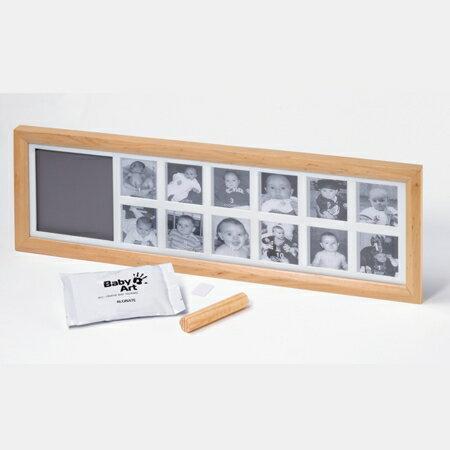 【淘氣寶寶】比利時【Baby Art 】12框 1st Year Print Frame週年手腳印紀念相框/寶寶月份相框/原木色(最佳彌月禮)