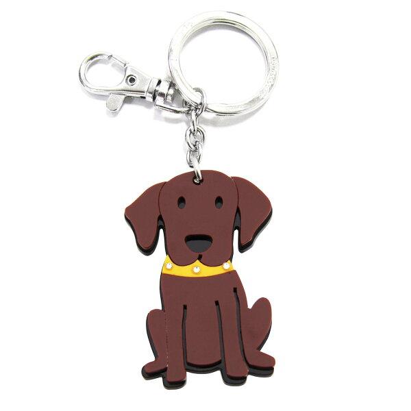 加拿大foufoudog鑰匙圈-巧克力拉不拉多犬CHOCOLATELABRADOR