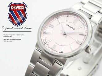 【完全計時】手錶館│KSWISS 時尚百搭款 優雅都會風格 日期顯示 粉嫩色93-0089-502 女錶 禮物