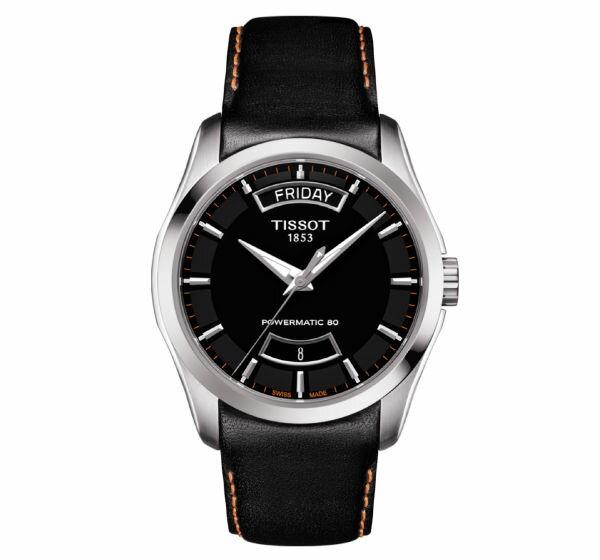 TISSOT天梭T035407160510380小時動力儲存機械腕錶-皮帶款黑面39mm
