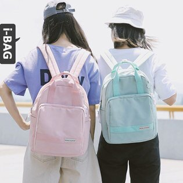 B.A.G*現+預*【BA1684】簡約素面後背包(現+預)-4色