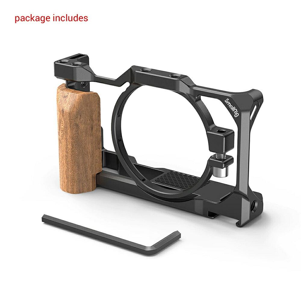 ..  SmallRig 2937 Cage 鋁合金外框+木質手柄 for Sony ZV-1 ZV1 兔籠 錄影用支架 散熱 Arca-Swiss 公司貨