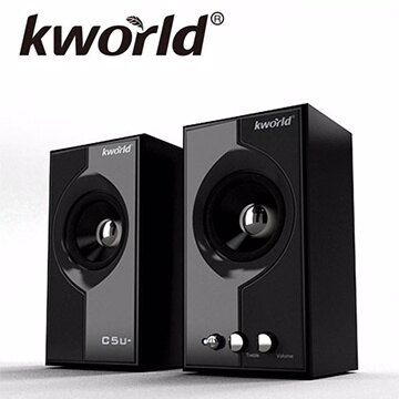 ~迪特軍3C~ 品 三十組  Kworld 廣寰 ~C5u~絕版二件式 木質喇叭 2.0