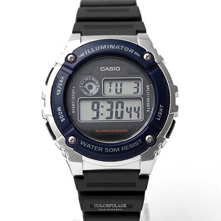 CASIO卡西歐 銀藍配色電子手錶 柒彩年代【NEC14】 - 限時優惠好康折扣