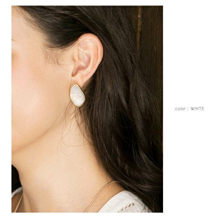 日本CREAM DOT  /  ニッケルフリー ピアス ヴィンテージ アクセサリー シェルピアス 金属アレルギー 安心 天然 フェミニン デイリー 結婚式 カジュアル ギフト 大人 レディース 女性 ジュエリー  /  qc0336  /  日本必買 日本樂天直送(1490) 5