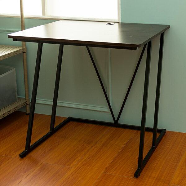 ~dayneeds~紐約LOFT工業風80x60cm  胡桃色  工作桌  電腦桌  書桌