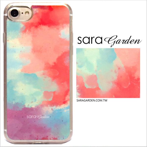 SaraGarden:客製化軟殼iPhone8766SPlus手機殼保護套全包邊掛繩孔水彩渲染漸層