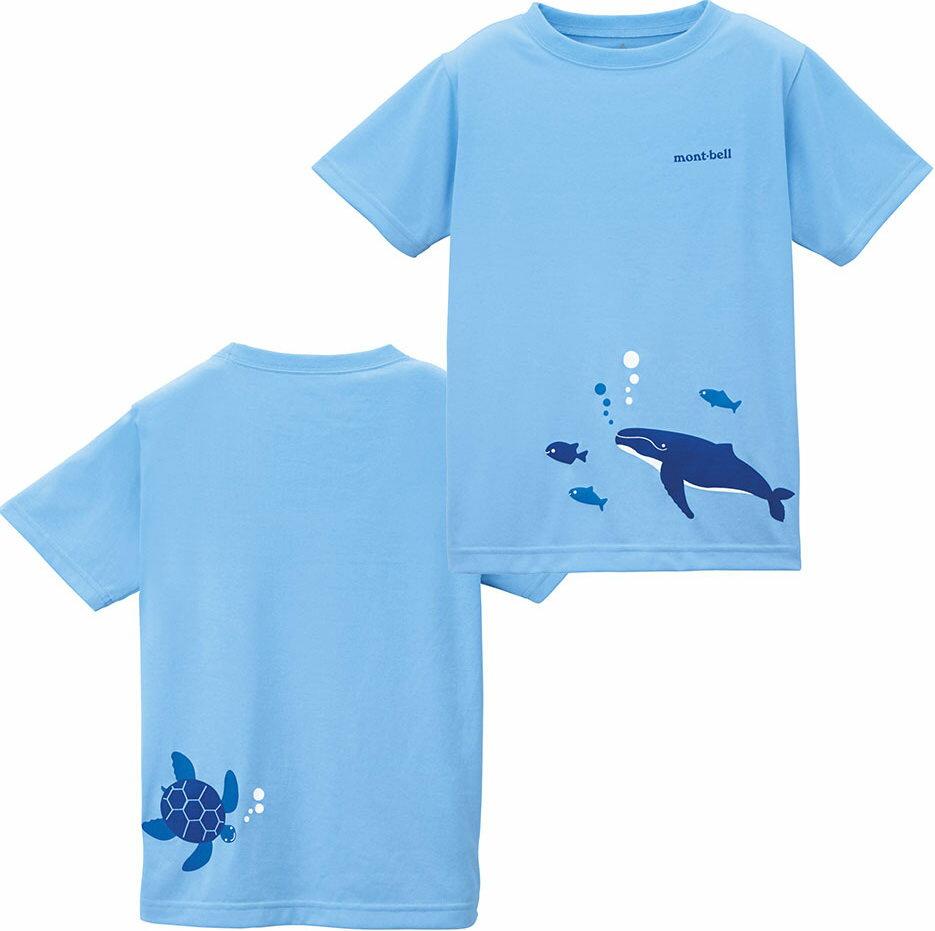 [ Mont-Bell ] 兒童排汗短T/幼童排汗衣 Wickron 1114214/1114215 AQ 海的朋友 藍