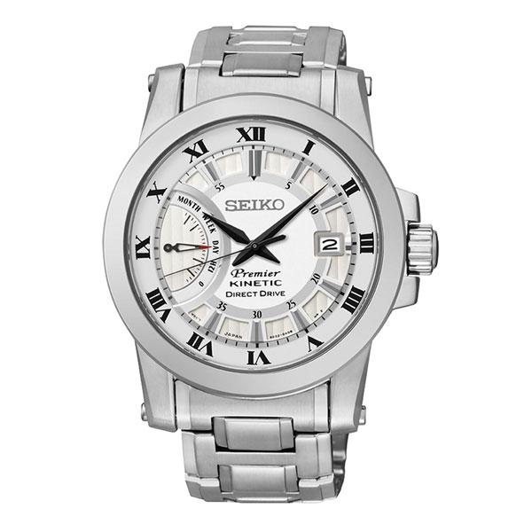 Seiko Premier 5D22-0AD0S(SRG007J1)人動電能經典羅馬腕錶/白面41mm