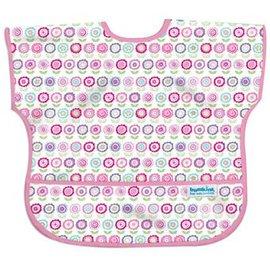 【淘氣寶寶】【美國Bumkins】兒童(1-3歲)短袖防水圍兜-可愛花朵 BKU-750【保證公司貨】