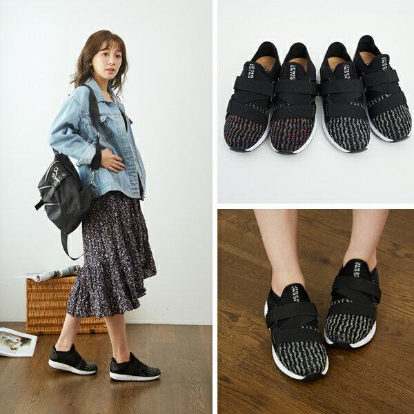 寬肉腳推薦。腳背可調整運動風休閒鞋【QD77251480】AppleNana蘋果奈奈 3