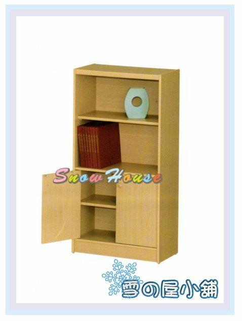 ╭☆雪之屋居家生活館☆╯AA554-07 B-03白橡木書櫃(美背式)/置物櫃/收納櫃/附活動隔板2片(含門內1片)