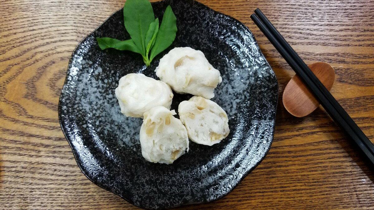 杏鮑菇花枝丸-【利津食品行】火鍋料 關東煮 杏鮑菇 花枝丸 冷凍食品