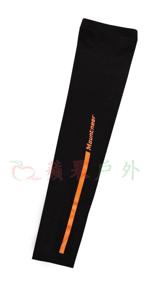 【【蘋果戶外】】山林 11K99-01 黑 Mountneer 中性款 抗UV冰涼反光防曬袖套 單車袖套 機車袖套